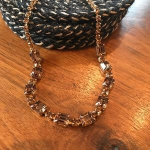 Vintage Weiss Bronze Crystal Gold-tone Necklace
